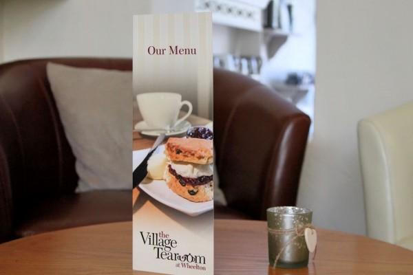 Menu The Village Tea Room At Wheelton